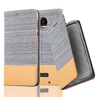 Cadorabo Hülle für Motorola MOTO Z FORCE Case Cover - Handyhülle mit Magnetverschluss, Standfunktion und Kartenfach – Case Cover Schutzhülle Etui Tasche Book Klapp Style