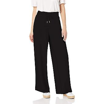 Betsey Johnson Women's Wide Leg Pant with Side Stripes,, Grey, Size Small