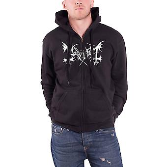 Mayhem De Mysteriis Dom Sathanas Official Mens New Black Zipped Hoodie