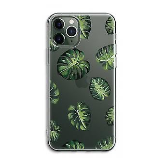 iPhone 11 Pro Max Transparent Case (Soft) - Tropical leaves