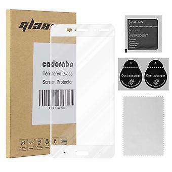Cadorabo full screen tank folie för Nokia 6 2017-härdat display skyddande glas i 9H hårdhet med 3D Touch kompatibilitet