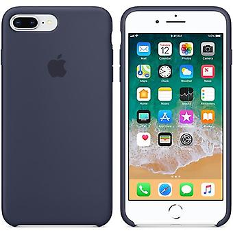 MQGY2ZM/A Apple Silicone Microfiber Cover Case for iPhone 8+ Plus / 7+ -Midnight Blue