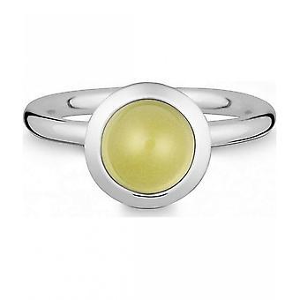 טבעת מכסף עם לימון קוורץ-021838648