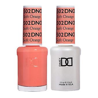 DND Duo Gel & Nail Polish Set - Soft Orange 502 - 2x15ml