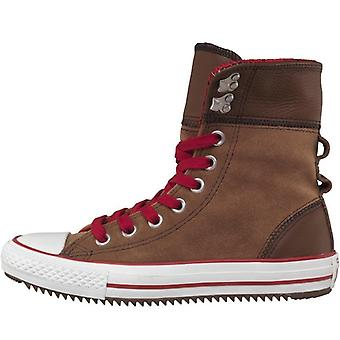 Converse women's trainers ct all star x-hi elsie rolldown pinecone red natural