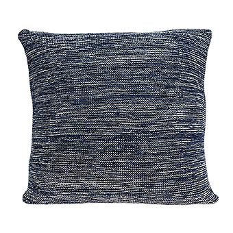 "20"" x 7"" x 20"" Excellent Transitional Blue Pillow Cover With Down Insert"