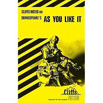 Anmärkningar om Shakespeare ' s som du vill ha det (Cliffs Notes)