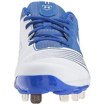 Under Armour Women's Glyde ST Softball Shoe, White (142)/Team Royal, 5.5