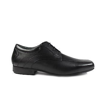 Startrite Times Black Leather Boys Encaje Zapatos Escolares Formales