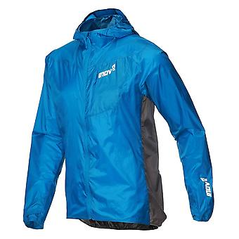 Inov8 Windshell Full Zip Mens Windproof Running Jacket Blue/dark Grey