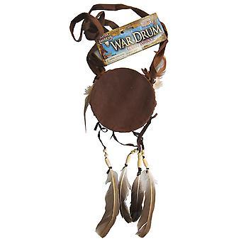 Guerrier indien amérindien Ouest petit hommes Costume tambour de guerre