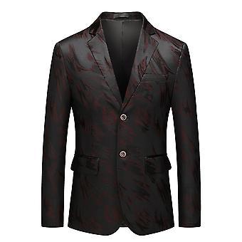 Allthemen Uomini's Casual Elegante due pulsanti Casual Suit Giacca