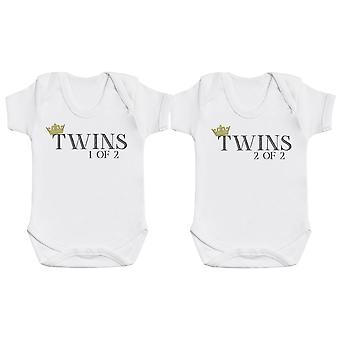 Twins 1 of 2, Twins 2 of 2 - Twin Set - Baby Bodysuits
