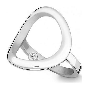 QUINN - Ring - Silber - Diamant - Wess. (H) - Weite 56 - 211456
