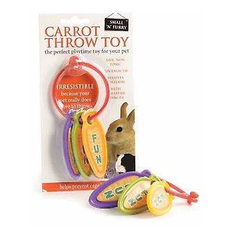 Small N Furry Carrot Throw Toy
