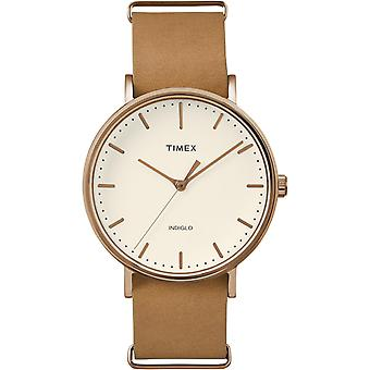 Zegarek Timex Weekender TW2P91200D7 - człowiek brązowy velvet