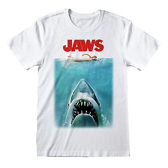 Jaws Movie Poster Great White Shark Official T-Shirt