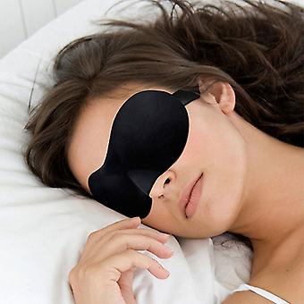3D Sleep Eye Mask Black Double Sleep Aid, Shade Cover, Blindfold