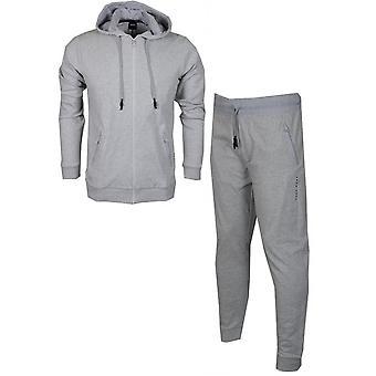 Hugo Boss coton Slim Fit mince survêtement gris à capuchon