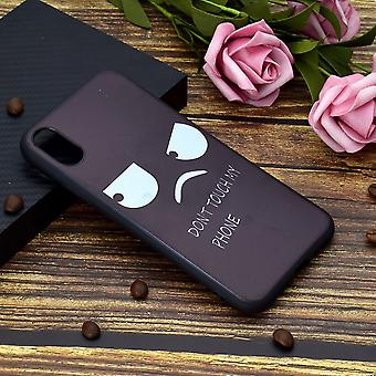 For iPhone XS Max Cover,Soft Thin Protective BackCase,Angry Don't Touch My Phone