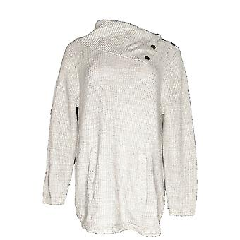 Style et Cie. Femmes -apos;s Plus Sweater Front Pull-Over Beige