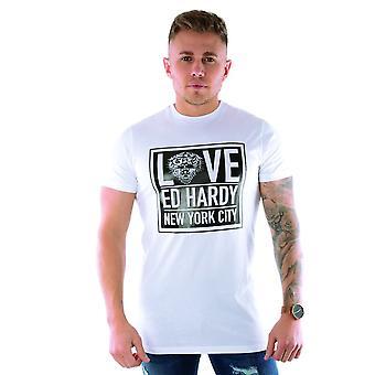 Ed Hardy   Nyc Love Ed Half Sleeve T-shirt - White