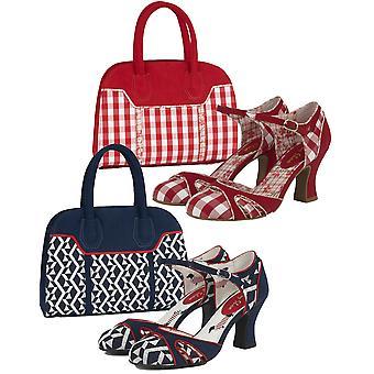 Ruby Shoo Women's Jeraldine Mid Heel Shoe & Matching Cancun Bag