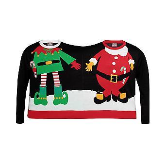 Рождественский магазин взрослых унисекс двойной Санта/Elf Рождество перемычки