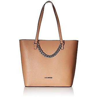 Love Moschino Bag Natural Grain Pu Tote Donna Beige (Camel) 30x12x37 cm (W x H x L)