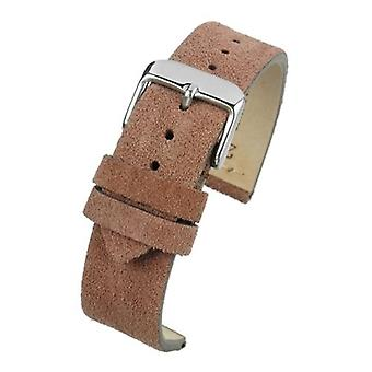 Brown suede watch strap premium quality size 18mm to 22mm