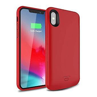 Stuff Certified® iPhone XS Max 5000mAh ohut teho tapauksessa power bank laturi akku kansi kotelo kansi punainen