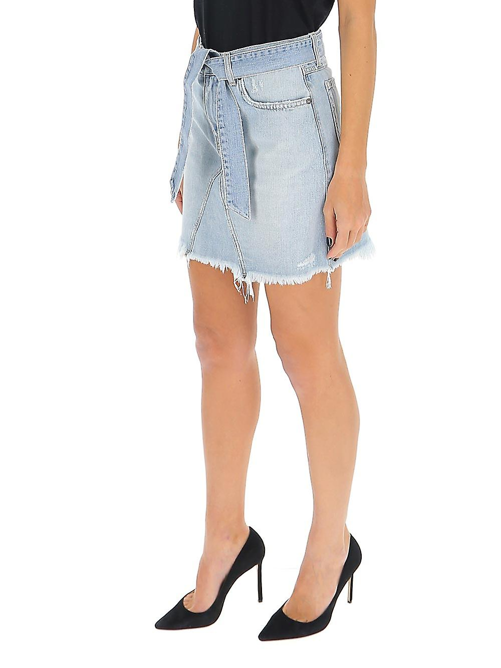 Givenchy Bw40da50dh452 Femme-apos;s Jupe en coton bleu clair dPylUL