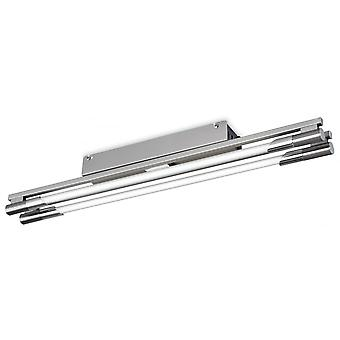 Firstlight Parallel Modern Brushed Steel Flush Linear Fluorescent Light