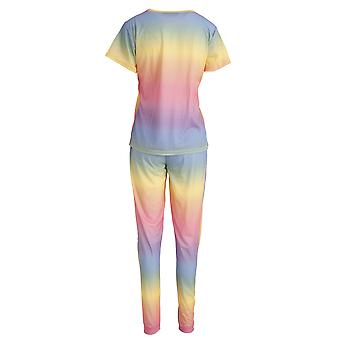 Foxbury Womens/Ladies Rainbow Pyjama Set