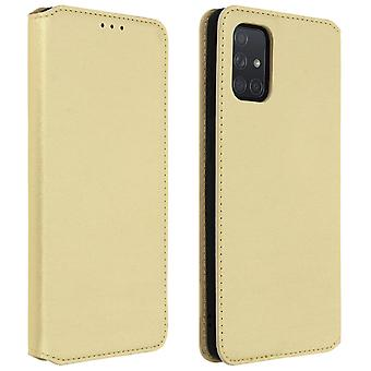 Classic Edition stand case with card slot for Samsung Galaxy A71 - Gold