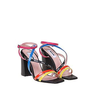 Msgm 2841mds392428299 Women's Multicolor Leather Sandals