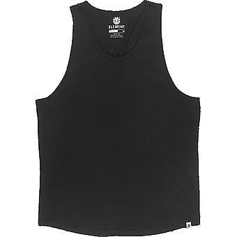 T-shirt sans manches de base d'élément en noir de flint