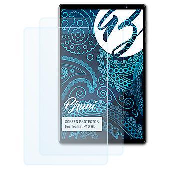 Bruni 2x Schutzfolie kompatibel mit Teclast P10 HD Folie