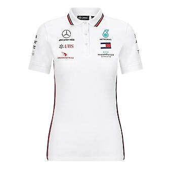 Mercedes AMG Petronas Damen's Replica Team Polo Shirt | Schwarz | 2020