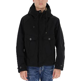 Ten C 17ctcuc04055002105999 Men's Black Fabric Outerwear Jacket