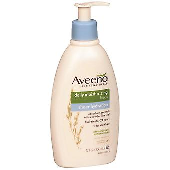 Aveeno actives naturals quotidien hydratant lotion, hydratation pure, 12 oz