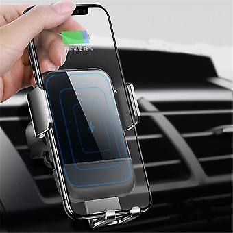 Cafele 10w qi bezprzewodowy szybki ładunek auto lock touch release szklana powierzchnia uchwyt na telefon samochodowy dla iPhone
