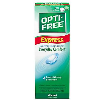 Opti-free express solution pour lentilles de contact confort quotidien, 4 oz