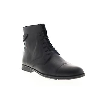 Camper Mil  Womens Black Leather Lace Up Casual Dress Boots
