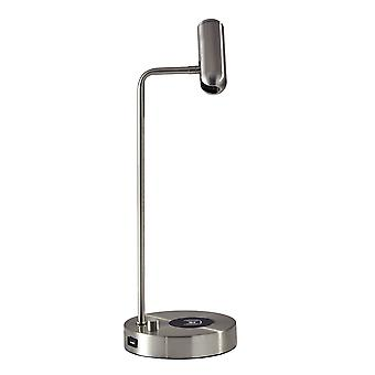 Ultra Sleek Brushed Steel Metal LED Desk Lamp
