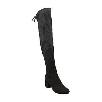 IvankaTrump Womens Pelinda Fabric Round Toe Knee High Fashion Boots