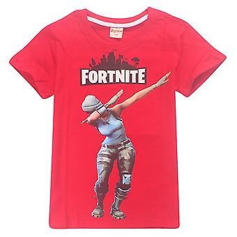 Fortnite T-Shirt çocuklar için (Dab, kırmızı)