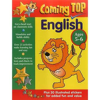 Coming Top - English - Ages 5-6 - 60 Gold Star Stickers - Plus 30 Illus