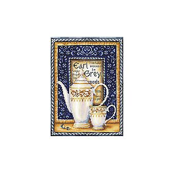 Andriana Cross Stitch Kit - Tea Collection Earl Grey