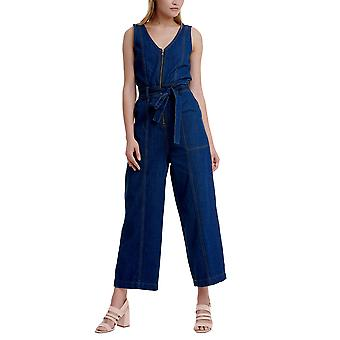 Funky Buddha Women's Dungarees In Plain Pattern